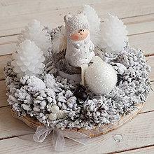 Dekorácie - Adventný veniec s anjelikom ... čistá láska - 10156778_
