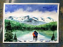 Spolu v horách obraz