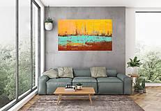 Obrazy - Večerné zore - veľký abstraktný obra - 10154742_