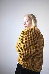 Svetre/Pulóvre - Žltý sveter - 10153332_