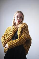 Svetre/Pulóvre - Žltý sveter - 10153334_