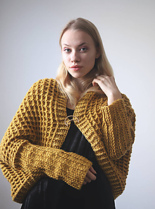 Svetre/Pulóvre - Žltý sveter - 10153333_