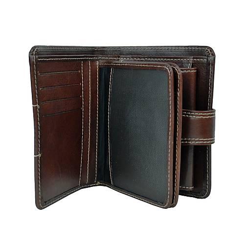 ce9700637 Dámska kožená elegantná peňaženka v tmavo hnedej farbe / Kozena ...