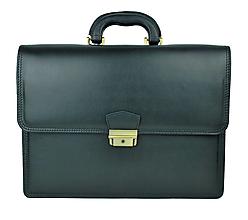 Tašky - Praktická kožená aktovka v čiernej farbe - 10155984_