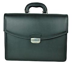 Tašky - Moderná kožená aktovka v čiernej farbe - 10156000_