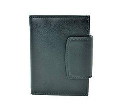 Peňaženky - Dámska praktická kožená peňaženka v čiernej farbe - 10156067_