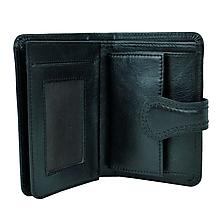 Peňaženky - Moderná kožená peňaženka v čiernej farbe - 10156098_