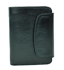 Peňaženky - Luxusná dámska kožená peňaženka v čiernej farbe - 10156172_