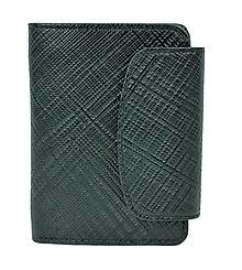 Peňaženky - Luxusná dámska kožená peňaženka s mriežkovaným dekorom v čiernej farbe - 10156183_