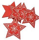 Polotovary - VY112 Výrez vianočný HVIEZDIČKA 5 cm - 10155073_