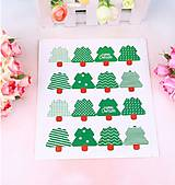 Papier - NA103 Nálepka vianočná stromček (cena za 8 kusov) 3 x 3,8 cm - 10155215_