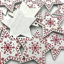 Polotovary - VY112 Výrez vianočný HVIEZDIČKA 5 cm  (Biela I) - 10155062_