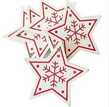 Polotovary - VY112 Výrez vianočný HVIEZDIČKA 5 cm  (Biela II) - 10155072_