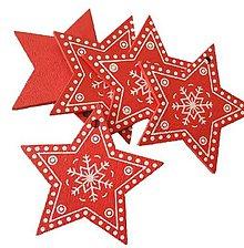 Polotovary - VY112 Výrez vianočný HVIEZDIČKA 5 cm  (Červená I) - 10155073_