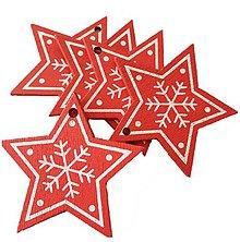 Polotovary - VY112 Výrez vianočný HVIEZDIČKA 5 cm  (Červená II) - 10155074_