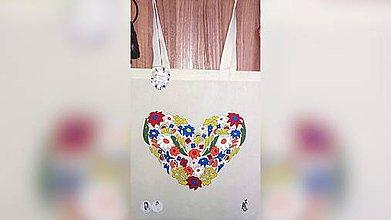 Iné tašky - ♥ Plátená, ručne maľovaná taška ♥ (AR1) - 10152823_