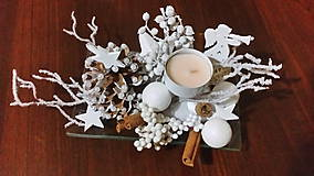 Dekorácie - Vianočný svietnik - 10154842_