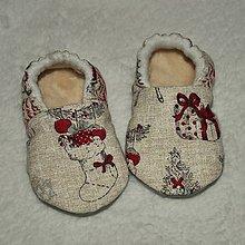 Topánočky - Capačky Vianočný darček 6-9 mesiacov - 10156278_