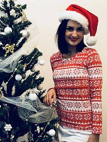 Tričká - Vianočné tričko/svetrík na dojčenie - 10153130_
