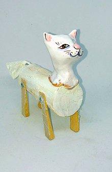Socha - Biela mačka - 10155212_