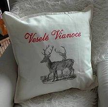 Úžitkový textil - Vianočná obliečka - 10155888_