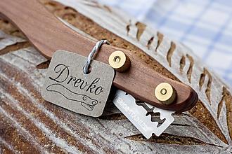 Pomôcky - Drevko - nožík na narezávanie chleba / slivka - 10156693_
