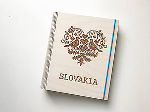 """Papiernictvo - Drevený zápisník """"Slovakia"""" - 10156279_"""