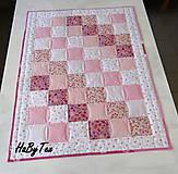 Textil - Dedka - ružové cukríky - 10154250_