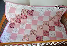 Textil - Dedka - ružové cukríky - 10154253_