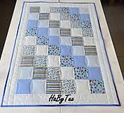 Textil - Deka - modré cukríky - 10154300_