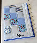 Textil - Deka - modré cukríky - 10154302_