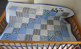 Textil - Deka - modré cukríky - 10154305_
