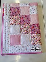 Textil - Dedka - ružové cukríky - 10154314_
