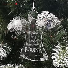 Dekorácie - Akrylový anjel - RODINA - 10156436_