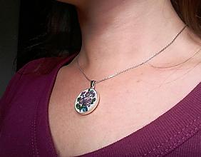 Sady šperkov - Strieborna sada šperkov (Ag 925) s ručne vyšívanými kvetmi Poštovné ZDARMA - 10155285_