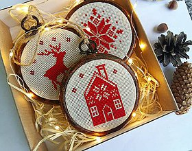 Dekorácie - Vianočné ozdoby Scandinavian/ Nordic Christmas - 10155382_
