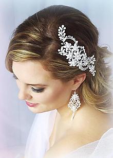 Ozdoby do vlasov - Svatební do vlasů Salma - 10153321_