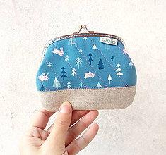 Peňaženky - Peňaženka XL Zajačiky a stromy - 10152809_
