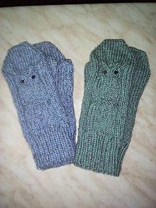 Rukavice - rukavice so sovou - 10156432_
