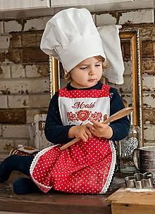 Detské čiapky - Kuchárska čiapka - 10152860_