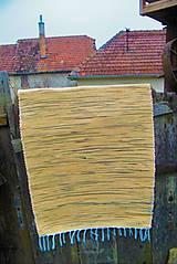 Úžitkový textil - Tkaný koberec žlto-čierny - 10156185_
