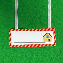 Papiernictvo - Minimalistické menovky na krk pre prváčikov - farbička - 10155323_