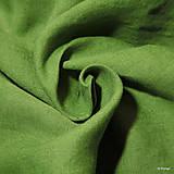 Textil - 100% Ľanové plátno zelené - 10159316_