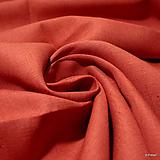 Textil - 100% Ľanové plátno červené - 10159335_