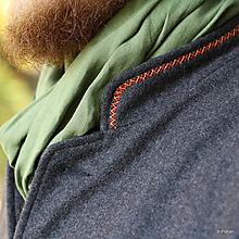 Oblečenie - Kabátec súkenný vyšívaný ZĽAVA XXL!!! - 10157788_