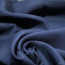 Textil - 100% Ľanové plátno modré - 10159375_