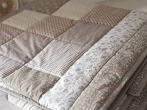 Úžitkový textil - Patchwork deka - Sandy Beige - 10158891_