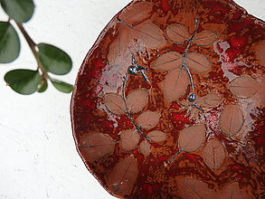 Nádoby - Keramická miska so šípkami - 10159119_