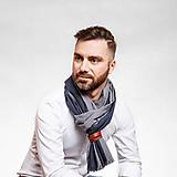 Doplnky - Pánsky exkluzívny ľanový šál s koženým remienkom - 10157377_