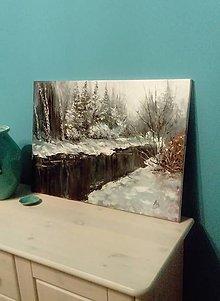 Obrazy - Zimná krajinka_predané - 10160263_